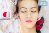 Почистване на лице с ултразвук и подхранване с ампула в Салон Miss