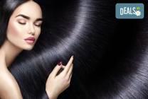 Терапия за коса на Medavita в 5 стъпки, подстригване и подсушаване в