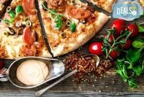 Голяма фамилна пица по избор в Ресторанти Златната круша