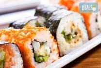 Суши сет Tsunami с 84 хапки с авокадо, терияки, филе от сьомга, риба