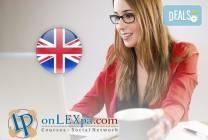 Онлайн курс по английски език, нива А1 и А2 и/или В1, от onlexpa.com