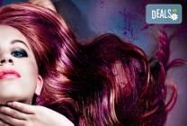 Подстригване + боядисване с Alfaparf Milano и сешоар в Angels of