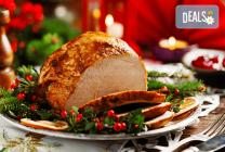 Крехко месо от цяло печено прасенце, порцирано и декорирано +