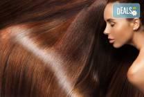 Трайно изправяне на коса с бразилски кератин и подстригване в студио