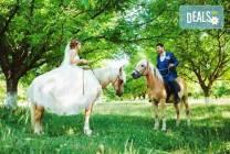 Урок по езда сред природата за двама с инструктор от Ранчо Thracian