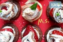 30 бр. мини бисквитени тортички с крем и ягодово сладко от My Style