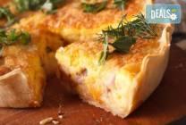 Мини киш с френски сирена, сметана, зеленчуци и бекон - 15 бр., My