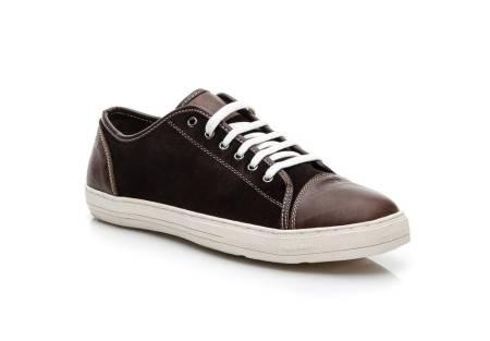 Мъжки спортни обувки от естествена кожа кафяви Mazaro - Полша