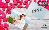 Пъзел по избор с ваша снимка и надпис, или преспапие с форма на сърце