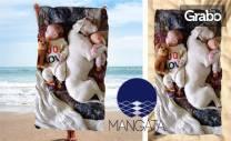 Плажна кърпа с щампа и размер по избор