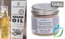 100% натурално арганово масло, мароканска глина расул и натурална