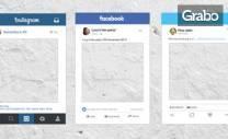 Селфи рамка Facebook, Instagram или Twitter, дизайн и размер по избор