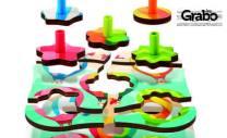 Детска дървена играчка Hape - пъзел