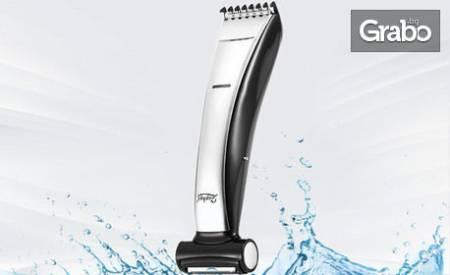 Безжична водоустойчива машинка Zephyr 2 в 1 - за подстригване и