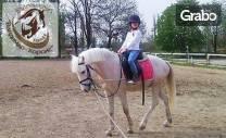 30-минутен урок по конна езда с треньор - за начинаещи или