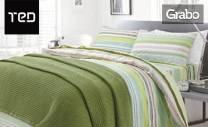 Плетено памучно одеяло в размер и десен по избор, плюс безплатна