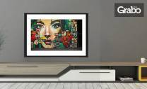 Цветен принт на изображение по избор - без или със рамка и стъкло