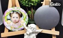 12 броя кръгли магнити за кръщене или рожден ден - с дизайн по избор