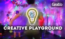 60 или 90-минутно парти за до 10 деца в Creative Playground с много