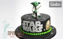 Детска 3D торта Мини Маус или Star Wars - с 14 парчета и пълнеж по